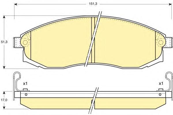 6131249 Колодки тормозные NISSAN MAXIMA 91-00/MITSUBISHI L200 96- передние