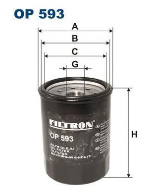 OP593 Фильтр масляный HO, ROVER