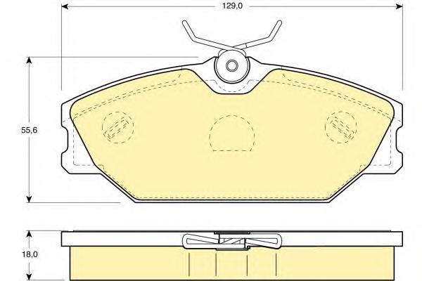 6114051 Колодки тормозные RENAULT LAGUNA 9503/MEGANE I 1.6/2.0/1.9D передние