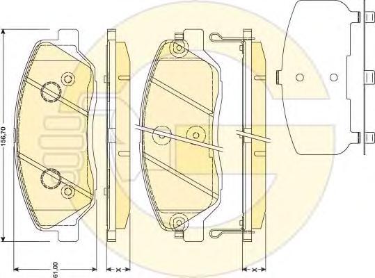 6134189 Колодки тормозные HYUNDAI SANTA FE (CM)/(SM) 05-/KIA SORENTO (XM) 09- передние