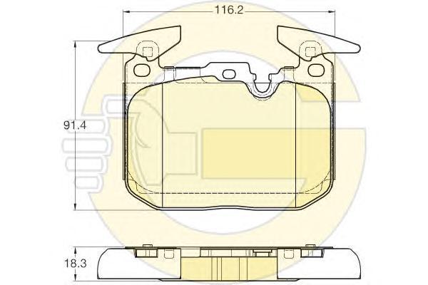 6119432 Колодки тормозные BMW 1 F20/F21/3 F30 11- передние