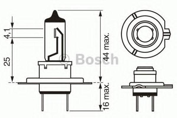 1987302471 Лампа H7 Trucklight 70 W 24 V PX26d