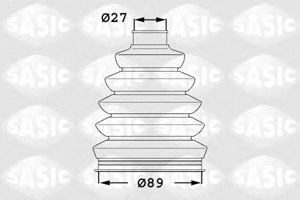 1904003 Пыльник ШРУСа RENAULT TRAFFIC II 06- наружный