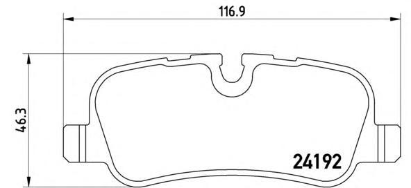 P44019 Колодки тормозные LAND ROVER DISCOVERY 2.7TD/4.4 04/RANGE ROVER 05задние