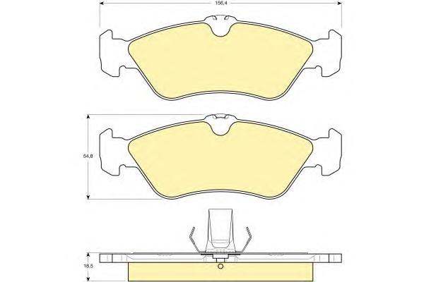 6112632 Колодки тормозные MERCEDES W460/W463/SPRINTER (901-904)/VW LT 9707 задние
