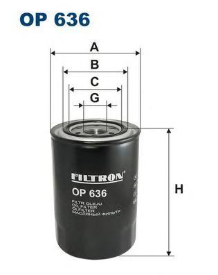 OP636 Фильтр масляный MITSUBISHI PAJERO 2.8D/3.2D/CANTER 2.8D/3.9D