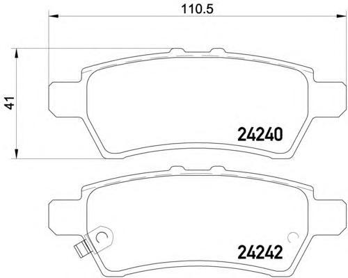 8DB355012081 Колодки тормозные NISSAN PATHFINDER 05-/NAVARA 05- задние