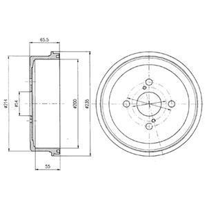 bf250 Тормозной барабан