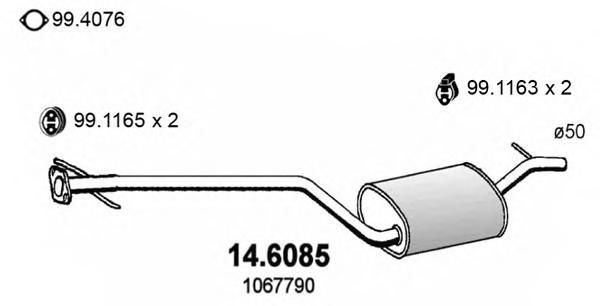 146085 Средний глушитель выхлопных газов