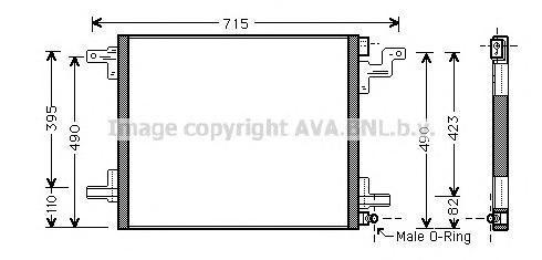 MS5377 Радиатор кондиционера MERCEDES-BENZ: M-CLASS (W163) ML 230 (163.136)/ML 320 (163.154)/ML 430 (163.172) 98 - 05