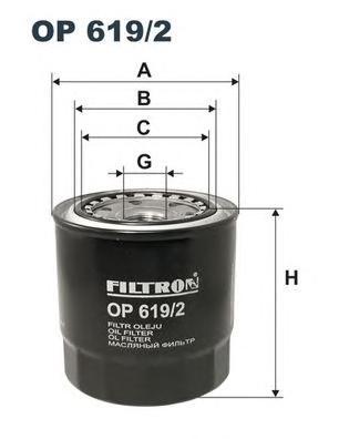 OP6192 Фильтр масляный TOYOTA AVENSIS/CARINA E 2.0D/TD