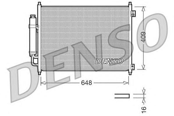 DCN46001 Радиатор кондиционера NISSAN: X TRAIL 2.0 / 2.5