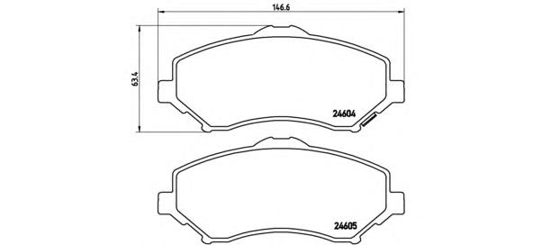 P11022 Колодки тормозные CHRYSLER VOYAGER/DODGE JOURNEY/NITRO/WRANGLER 07- передние