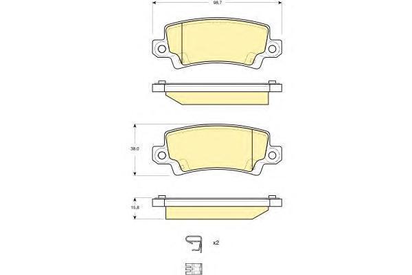6132891 Колодки тормозные TOYOTA COROLLA (E12) 0206 с датчиком задние