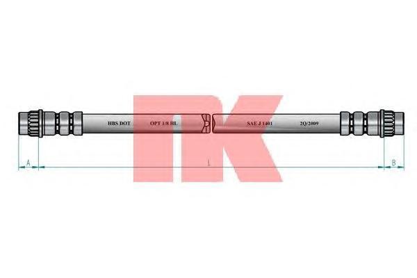 853949 Шланг тормозной RENAULT MEGANE SCENIC II/MEGANE II 1.4-2.0 02- 210мм