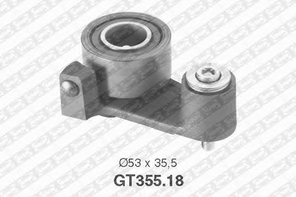 GT35518 Деталь GT355.18_pолик натяжной pемня ГPМ