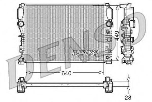 DRM17091 Радиатор охл. ДВС MB E-Class (W211, S211) 07.02-