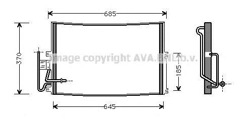 OLA5274 Радиатор кондиционера OPEL: VECTRA B (36_) 1.6 i/1.6 i 16V/1.8 i 16V/2.0 DI 16V/2.0 i/2.0 i 16V/2.2 i 16V/2.5 i V6/2.6 i
