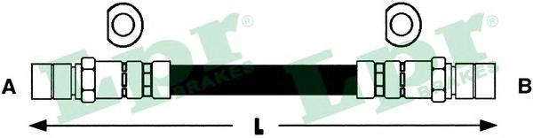 6T47453 Шланг тормозной CHEVROLET LACETTI 05-/DAEWOO NUBIRA 97- задний правый