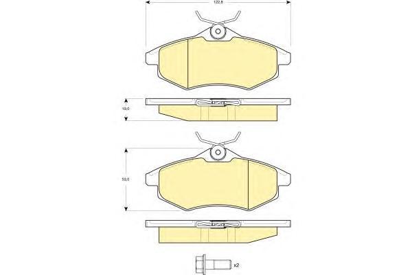 6114951 Колодки тормозные CITROEN C2/C3 1.1-1.4 02- передние