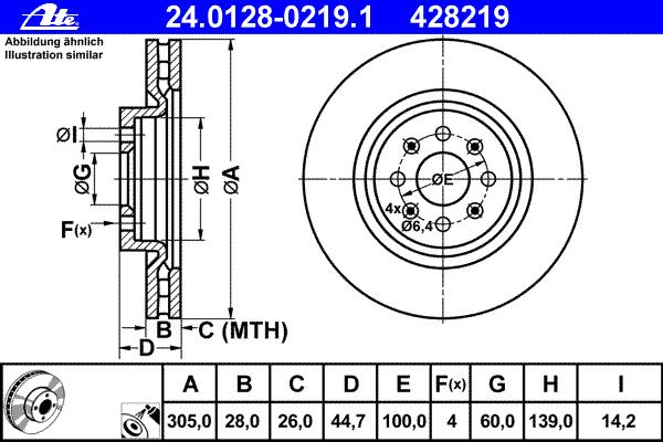 24012802191 Диск тормозной передн, FIAT: PUNTO/ GRANDE PUNTO 1.4 Abarth 05-, PUNTO EVO 1.4 Abarth 08-12