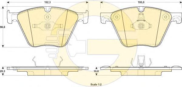 6119152 Колодки тормозные BMW 5 F07 09-/7 F01 10- передние