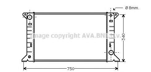 FD2085 Радиатор FORD TRANSIT 2.0/2.5D 85-92 МКПП без кондиционера