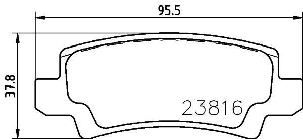 8DB355010841 Колодки тормозные TOYOTA COROLLA (E12) 0206 с датчиком задние