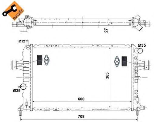 58344 Радиатор OP Astra H 2.0L, Zafira B 2.0-2.2L