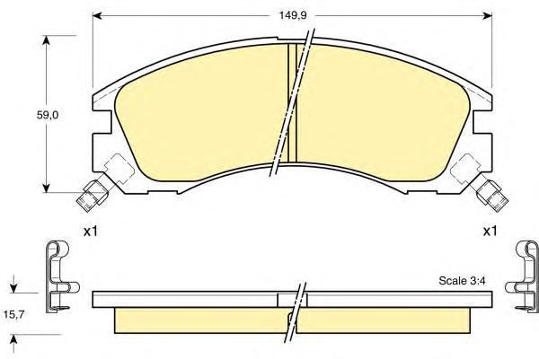 6132009 Колодки тормозные MITSUBISHI OUTLANDER 03/PAJERO 9000/00 передние