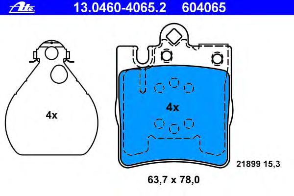 13046040652 Колодки тормозные дисковые задн, MERCEDES-BENZ: C-CLASS C 180 Kompressor/C 200 CDI/C 200 CDI/C 200 CDI/C 200 CGI Kom