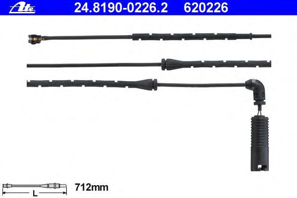24819002262 Датчик износа зад.колодок BMW X5 715мм