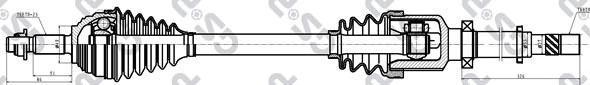 299071 Привод в сборе RENAULT MEGANE II 1.6 02-09 прав.