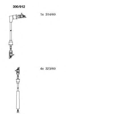 300912 Комплект проводов зажигания