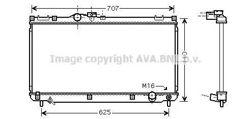TO2321 Радиатор системы охлаждения LEXUS: IS (GXE10) 200 99 -
