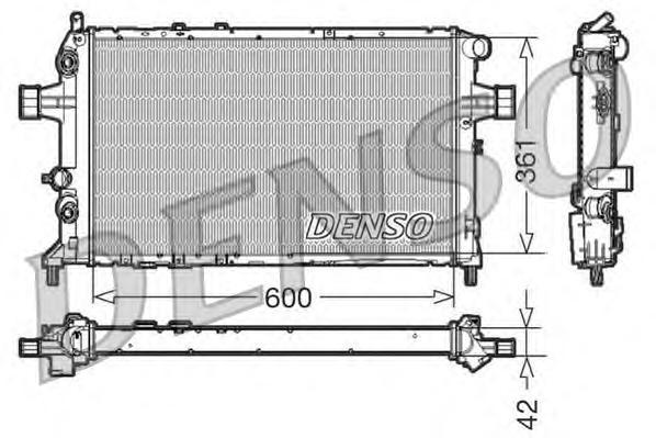 DRM20016 Радиатор системы охлаждения OPEL: ASTRA G Наклонная задняя часть (F48, F08) 2.0 DTI 16V 98 - 05 , ASTRA G седан (F69) 2