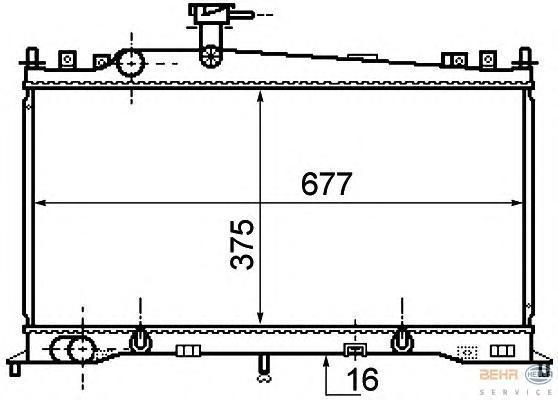 8MK376750271 Радиатор системы охлаждения MAZDA: 6 (GG) 1.8/2.0 02-, 6 Hatchback (GG) 1.8/2.0 02-, 6 Station Wagon (GY) 1.8/2.0 0