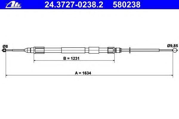 24372702382 Трос, стояночная тормозная система