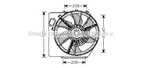 RT7536 Вентилятор радиатора RENAULT KANGOO/CLIO II