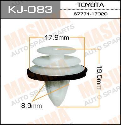 kj083 Клипса (пластиковая крепежная деталь)