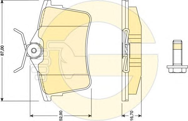 6117991 Колодки тормозные CITROEN BERLINGO 08-/PEUGEOT 308 07-/PARTNER 08- задние