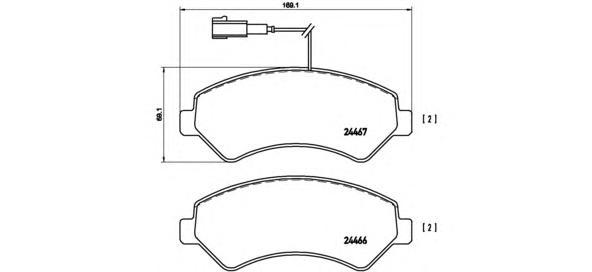 "P23136 Колодки тормозные CITROEN JUMPER/FIAT DUCATO/PEUGEOT BOXER R16"" 06- передние"