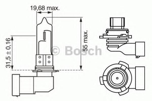 1987302155 Лампа HB4 12V 51W Xenon blue