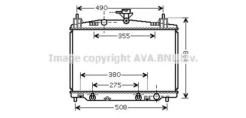 MZ2212 Радиатор системы охлаждения MAZDA: 2 1.3 / 1.5 АКПП