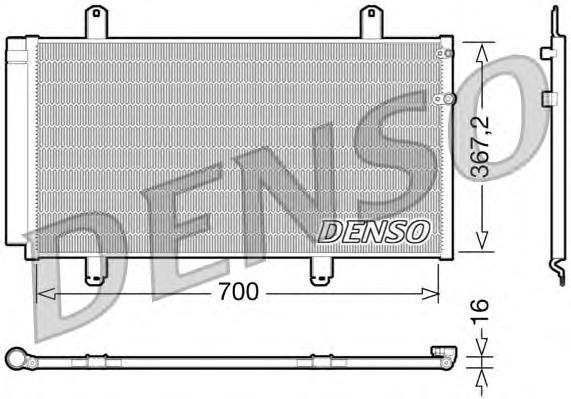 DCN51004 Радиатор кондиционера LEXUS: ES 350 06-