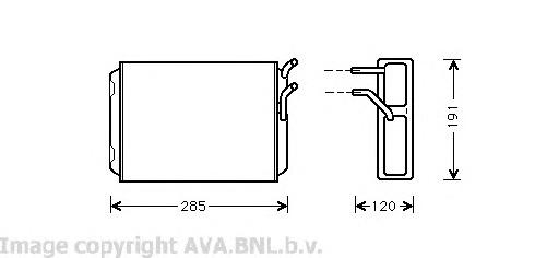VO6096 Радиатор отопителя VOLVO S90/V90 2.9 97-98