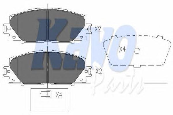 KBP9097 Колодки тормозные TOYOTA YARIS 06- (Япония) с АБС передние