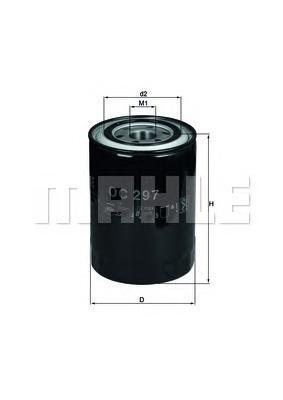 OC297 Фильтр масляный MITSUBISHI PAJERO 2.8D/3.2D/CANTER 2.8D/3.9D