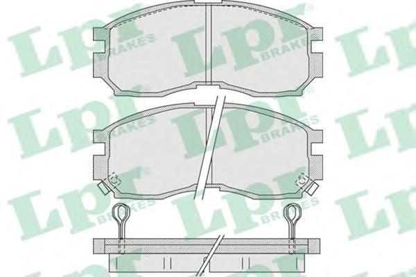 05P1012 Колодки тормозные MITSUBISHI GALANT/LANCER 1.8-2.0 88-00 передние