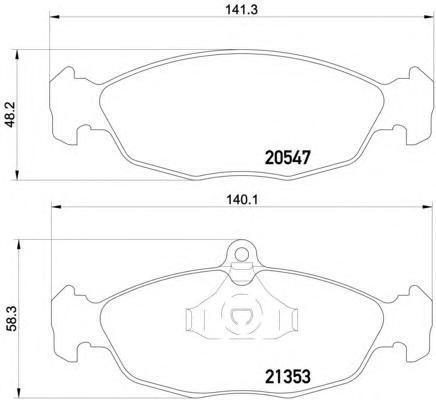 8DB355007531 Колодки тормозные OPEL ASTRA F/DAEWOO NEXIA/CHEVROLET LANOS 1.4/1.5 97 передние